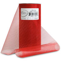 "Shiny 6"" Tulle (Spool, 25 Yards) Red"