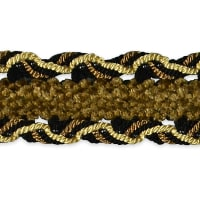 Amore Decorative Gimp trim Black/ Gold (Precut, 20 Yards)