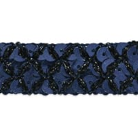 Sereia Sequin Trim Navy Blue (Precut, 20 Yards)