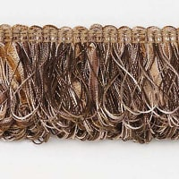 Allie Loop Fiber Fringe Trim Brown Multi (Precut, 10 Yards)