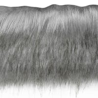 Faux Fox Fur Trim Gray (Precut, 10 Yards)