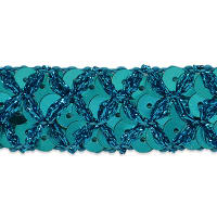 Sereia Sequin Trim Turquoise (Precut, 20 Yards)