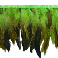 Fionna Feather Fringe Trim Green (Precut, 5 Yards)