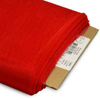 "54"" Shiny Polyester Tulle Fabric (Bolt, 25 Yards) Red"