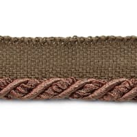 "Mariel 1/4"" Decorative Lip Cord Trim Chocolate (Precut, 20 Yards)"