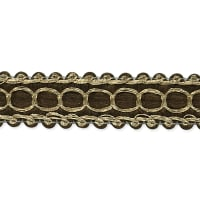 Novella Woven Braid Trim Brown (Precut, 20 Yards)