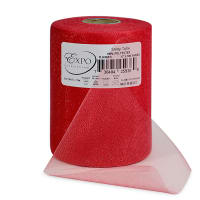 "Shiny 6"" Tulle (Spool, 100 Yards) Red"