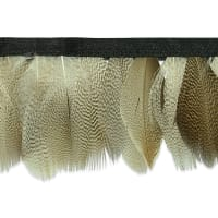 "Mienna Feather Fringe Trim 2 1/3"" Natural (Precut, 5 Yards)"