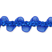Coralia Ruffle Sequin Trim Royal Blue (Precut, 20 Yards)
