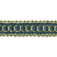 Novella Woven Braid Trim Blue (Precut, 20 Yards)