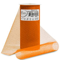 "Glitter Tulle 6"" (Spool, 25 Yards) Orange"