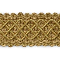 Jolie Lattice Braid Trim Gold (Precut, 20 Yards)
