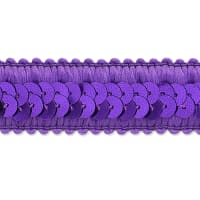 Darcey Sequin Stretch Trim Purple (Precut, 20 Yards)