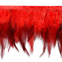 Jaylo Feather Fringe Trim Red (Precut, 5 Yards)