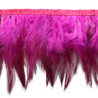 Jaylo Feather Fringe Trim Fuchsia (Precut, 5 Yards)