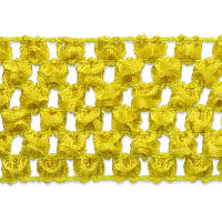 "1 3/4"" Crochet Stretch Trim Yellow (Precut, 20 Yards)"