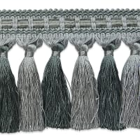 Talia Twisted Tassel Fringe Trim GRAY/SLATE (Precut, 20 Yards)