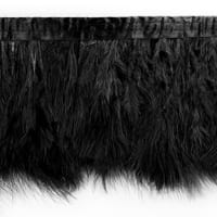 Tristan Feather Trim Black (Precut, 5 Yards)