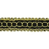 Novella Woven Braid Trim Black (Precut, 20 Yards)