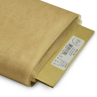"54"" Shiny Polyester Tulle Fabric (Bolt, 25 Yards) Beige"
