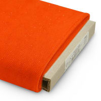 "54"" Stardust Polyester Tulle Fabric (Bolt, 25 Yards) Orange"