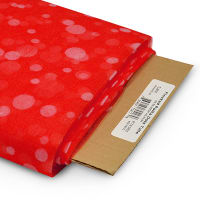 """54"""" Flocked Polka Dot Polyester Tulle Fabric (Bolt, 25 Yards) Red"""