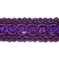 Trish Sequin Metallic Braid Trim Purple (Precut, 20 Yards)