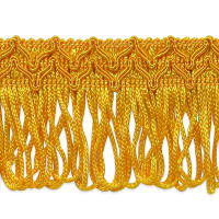 "Sharlene 2"" Loop Chainette Fringe Trim Gold (Precut, 20 Yards)"