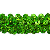 "2 Row 7/8"" Starlight Hologram Stretch Sequin Trim Lime (Precut, 20 Yards)"