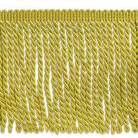 "Karuna 6"" Bullion Fringe Trim Yellow Gold (Precut, 10 Yards)"
