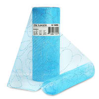 """Glitter Curves 6"""" Tulle (Spool, 10 Yards) Turquoise"""