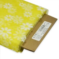 "54"" Daisy Flocked Tulle Fabric (Bolt, 10 Yards) Yellow"