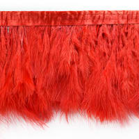 Tristan Feather Trim Red (Precut, 5 Yards)