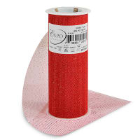 """Glitter 6"""" Tulle (Spool, 10 Yards)  Red"""