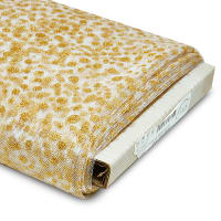 """Duplicate, 54"""" Glitter Dots Polyester Tulle Fabric (Bolt, 25 Yards) White/Gold"""