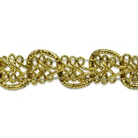 Gwen Lacey Metallic Braid Trim Gold (Precut, 20 Yards)