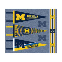 NCAA Michigan Wolverines Pennants (Set of 3 Unique Poly Felt Designs)