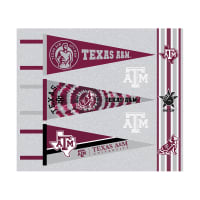 NCAA Texas A&M Pennants (Set of 3 Unique  Poly Felt Designs)
