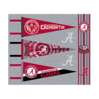 NCAA University of Alabama Pennants (Set of 3 Unique  Poly Felt Designs)