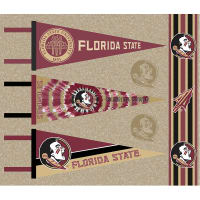 NCAA Florida State Pennants (Set of 3 Unique  Poly Felt Designs)