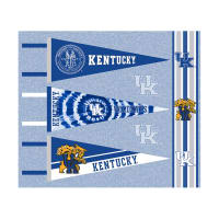 NCAA University of Kentucky Pennants (Set of 3 Unique  Poly Felt Designs)