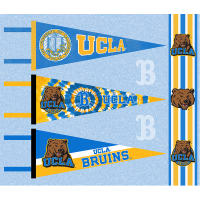 NCAA UCLA Bruins Pennants (Set of 3 Unique Poly Felt Designs)