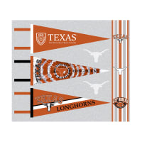 NCAA University of Texas Pennants (Set of 3 Unique  Poly Felt Designs)