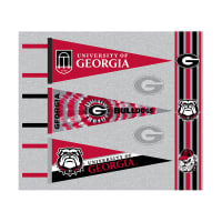 NCAA University of Georgia Pennants (Set of 3 Unique  Poly Felt Designs) Red
