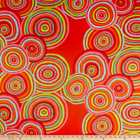 Kaffe Fassett For Freespirit 108' Quilt Back Circles, Red