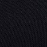 Solid Wool Blend Twill Black