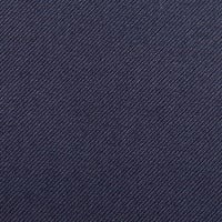 Solid Wool Blend Twill Navy