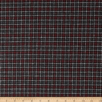 Wool Blend Coating Plaid Red/Black