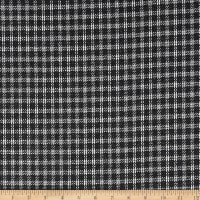 Wool Blend Coating Plaid White/Black