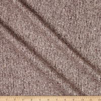 Wool Blend Coating Tweed Brown